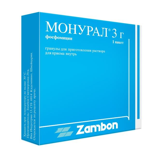 Монурал гранулы 3 г - цена 570 в Москве, купить Монурал гранулы 3 г ...