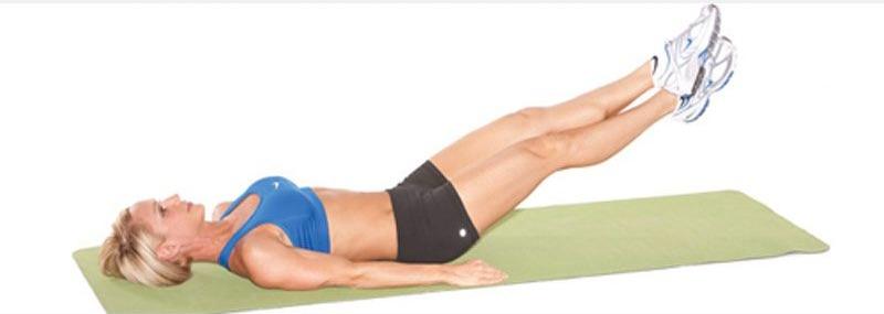 Упражнение ножницы для мышц пресса – стройный живот