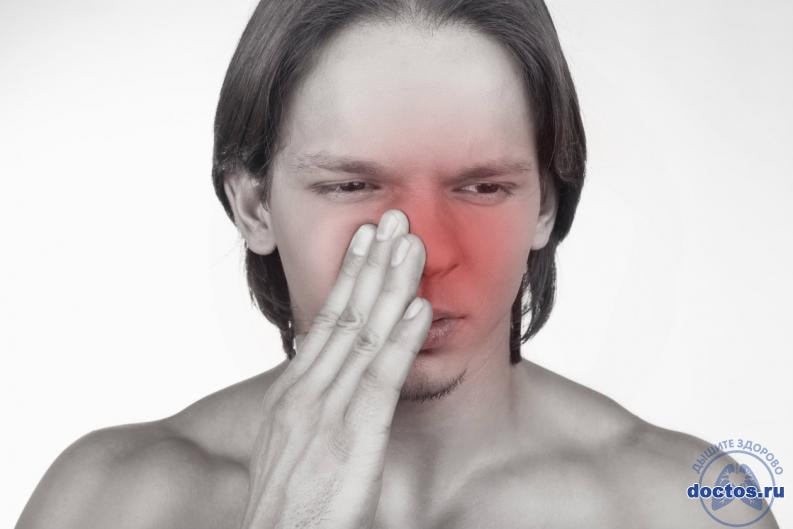 Вавка в носу у мужчины