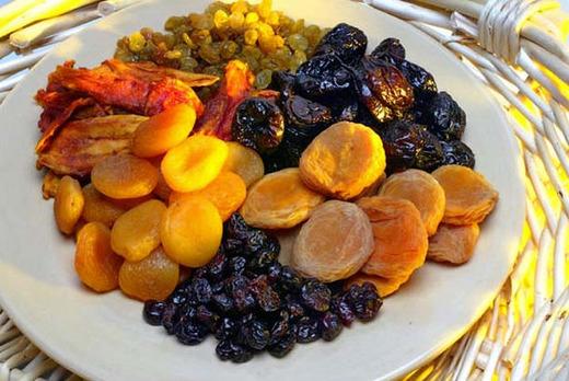 Полезные сушенные фрукты