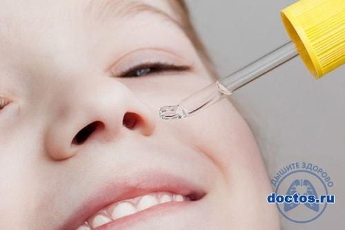 Закапать нос ребенку с пепетки