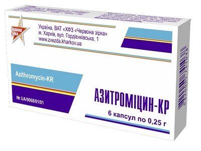 Азитромицин при простатите