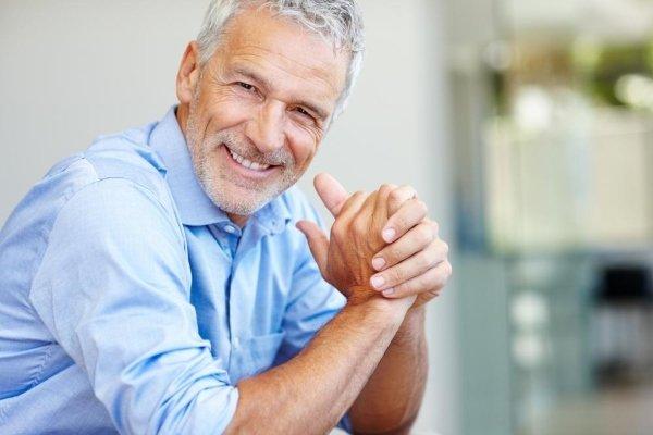 счастливый мужчина с потенцией