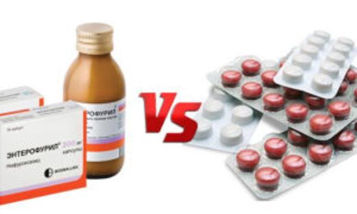 Энтерофурил в сиропе и таблетках