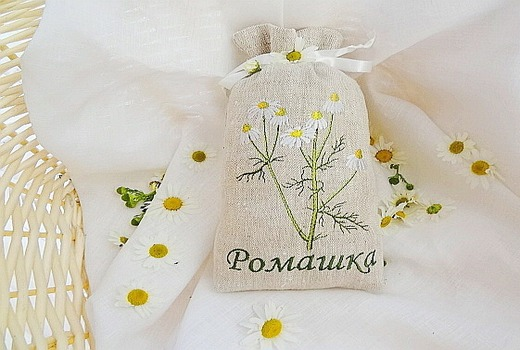 Полотняный мешочек для ромашки