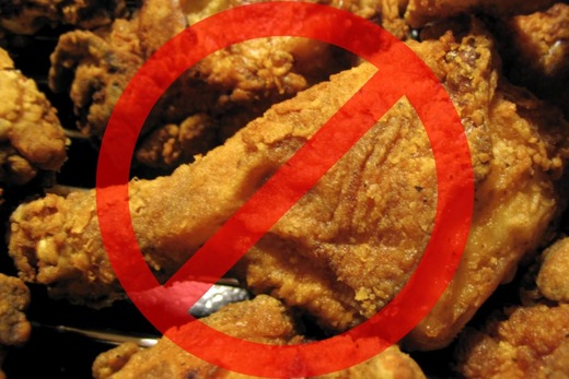 В диете категорический отказ от жирной пищи