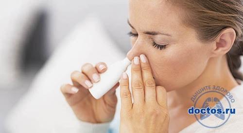 Медикаменозная терапия, капли в нос